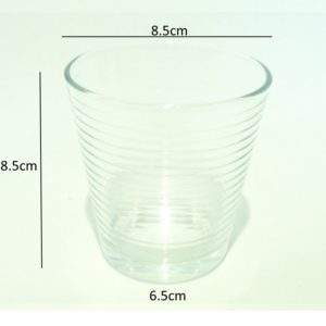 Transparent-cup-measurement